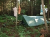Campsite at upper Riley Pond