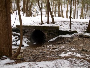 Culvert and bridge in Hoxie Gorge