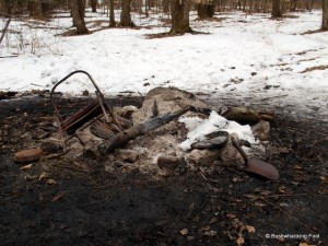 Hoxie Gorge lean-to fire ring